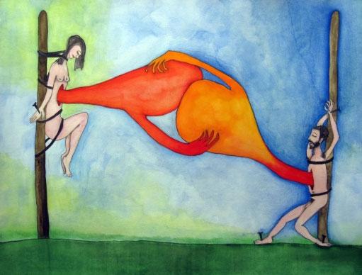 ドローイング展『二人のホドロフスキー 愛の結晶』
