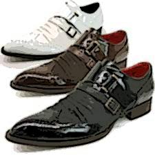 とんがり革靴