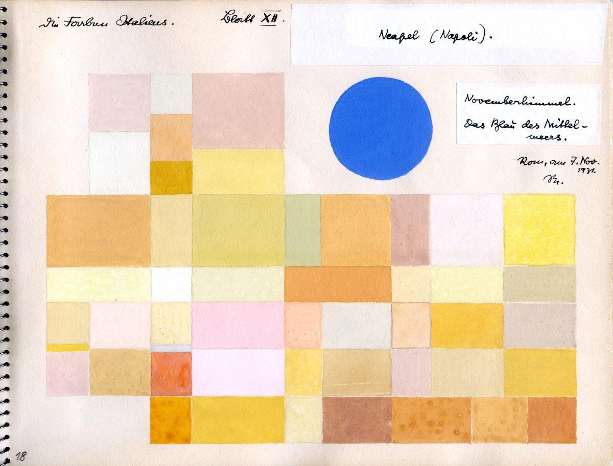 オットー・ネーベル 《ナポリ》『イタリアのカラー・アトラス(色彩地図帳)』より、1931年、水彩・紙、オットー・ネーベル財団