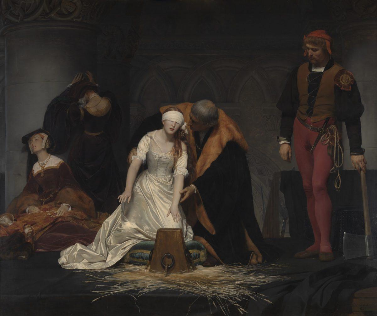 ポール・ドラローシュ 《レディ・ジェーン・グレイの処刑》 1833年 油彩・カンヴァス ロンドン・ナショナル・ギャラリー蔵 Paul Delaroche, The Execution of Lady Jane Grey, © The National Gallery, London. Bequeathed by the Second Lord Cheylesmore, 1902