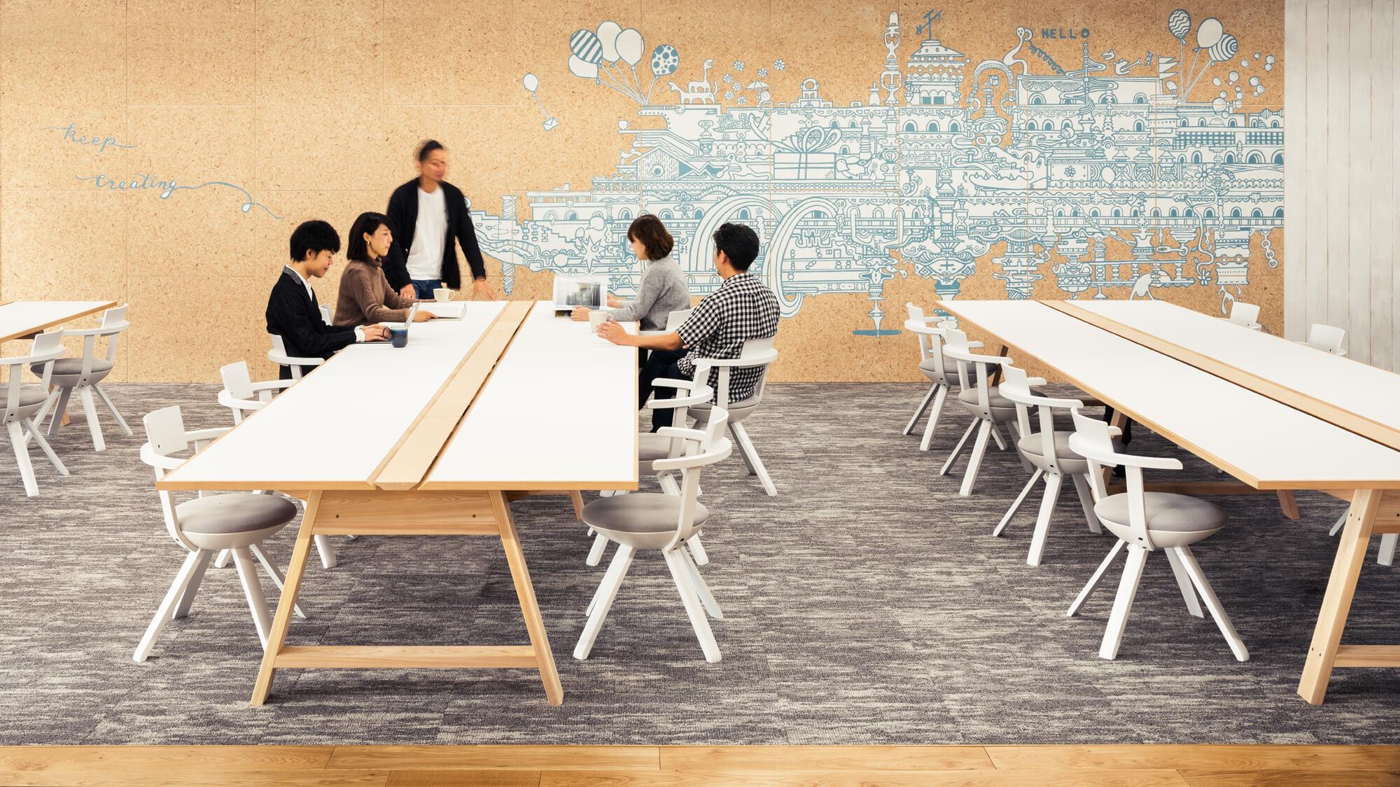 オフィス空間にアートを描いてもらえるサービス、WASABI ART&DESIGNがスタート