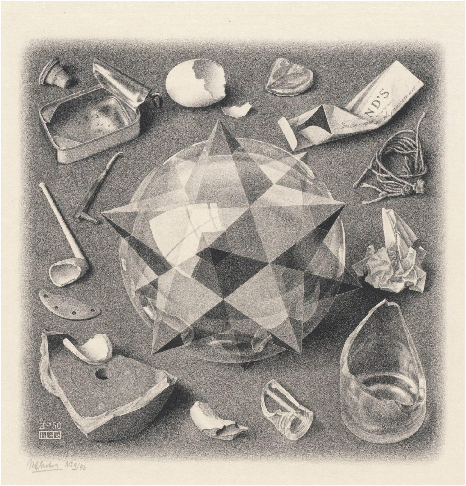 《対照(秩序と混沌》 1950年 All M.C. Escher works copyright © The M.C. Escher Company B.V. - Baarn-Holland.  All rights reserved. www.mcescher.com