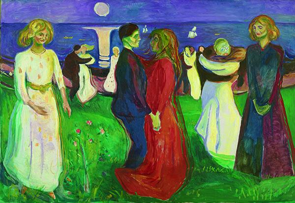 エドヴァルド・ムンク《生命のダンス》1925年 油彩、カンヴァス