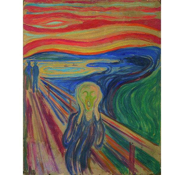 エドヴァルド・ムンク《叫び》1910年 テンペラ・油彩、厚紙